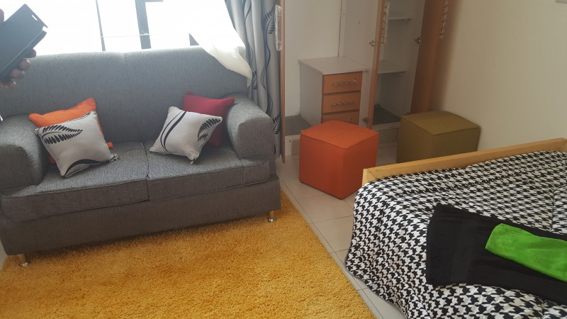 standard studio living area