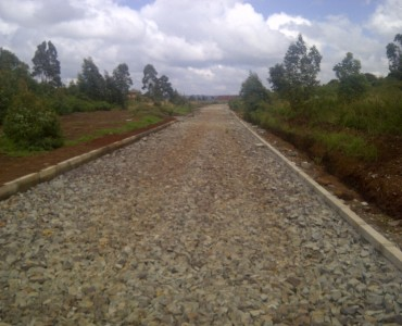 Runda Mhasibu showing 3rd and 4th plot together road works  ongoing (1)