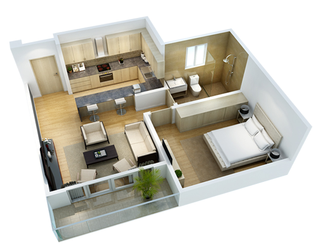 1 Bedroom Home Designs Part - 45: ... 1 Bedroom Layout ...